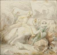 friedrich barbarossa in der schlacht von iconium by wilhelm lindenschmit the elder