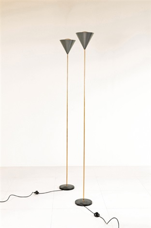Due lampade da terra Imbuto by Ignazio Gardella and Luigi Caccia Dominioni on...