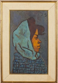 the blue scarf by joseph solman
