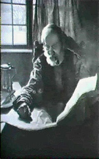 old man reading by isabel codrington