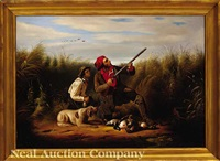 bird hunting in a marsh by james currie