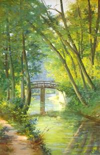 le pont d'esbly, seine et marne by leo fontan