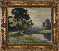 landscape by léon esperance broquet