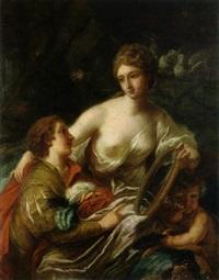 die erziehung eines adeligen jünglings, dem venus mit amor einen spiegel vorhält by austrian school-vienna (18)