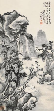 高士山松 landscape by xu wei