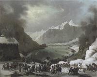 passage du grand saint bernard par les troupes françaises by jules cesar denis van loo
