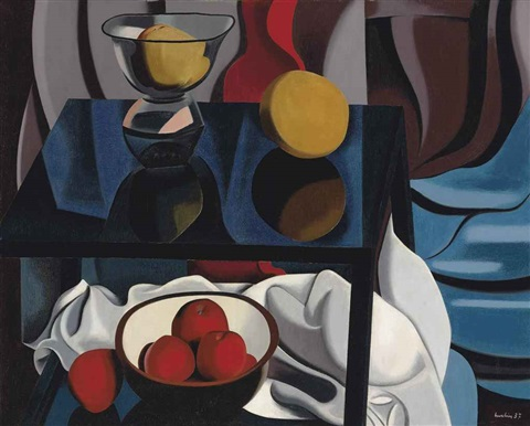 nature morte aux fruits by auguste herbin