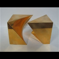 untitled (cube form) (in 2 parts) by charles daudelin