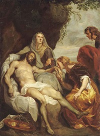the lamentation (after sir anthony van dyck) by desire lesij
