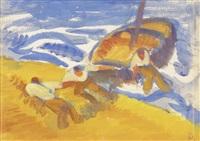 fischer mit boot by roberto marcello baldessari
