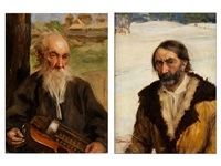 paar portraits (pair) by teodor axentowicz