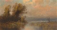 am ufer eines vorgebirgssees by oskar mulley