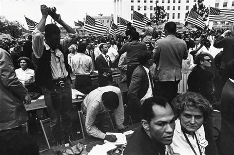 untitled civil rights march by dennis hopper