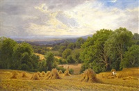 view of the surrey hills by john clayton adams