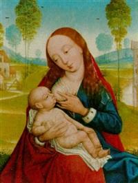 maria mit dem kind in einer landschaft by hans memling