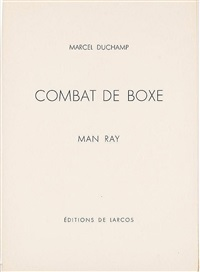 combat de boxe by man ray & marcel duchamp