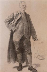estudo da figura de benjamin franklin para a pintura voltaire abençoando o neto de benjamin franklin by pedro americo