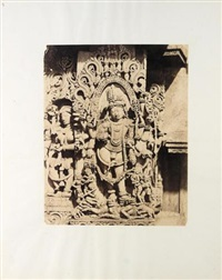 halebid. sculptural study, hoyaslesvara temple by richard banner oakeley