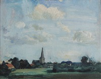 paysage à schilde by albert van dyck