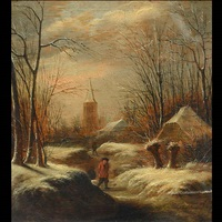 winter landscape by klaes molenaer