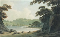 view near britton ferry, glamorgan by john warwick smith