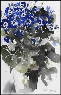 blue flowers by molly joan lamb bobak