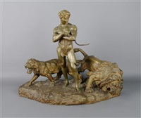 the lion tamer by paul (lemoyne saint-paul) lemoyne