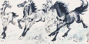 奔马 by xu beihong