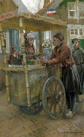 a refreshment cart by george wharton edwards