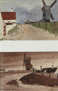 le moulin près du camp de prisonniers (+ similar; 2 works) by pierre brette