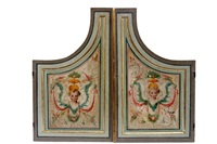 paar orgelflügel. hl. cäcilie. verzückung des hl. franziscus by johann mathias kager