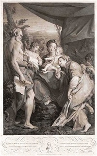 die madonna des hl. hieronymus (der tag) (after il correggio) by mauro gandolfi