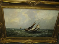 sailing ship at sea by joseph de groot