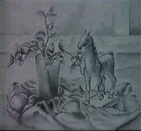 oasis still life with horse by hugh warwick littlejohn
