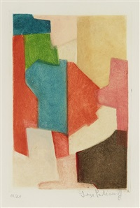 composition rouge et verte by serge poliakoff