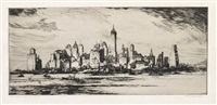 demolishing old madison square garden (+ new york from governor's island; 2 works) by william c. mcnulty