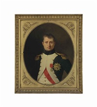 portrait of emperor napoleon (1769-1821), half-length, as colonel of the foot grenadiers of the imperial guard, wearing the cross... by robert jacques francois faust lefevre