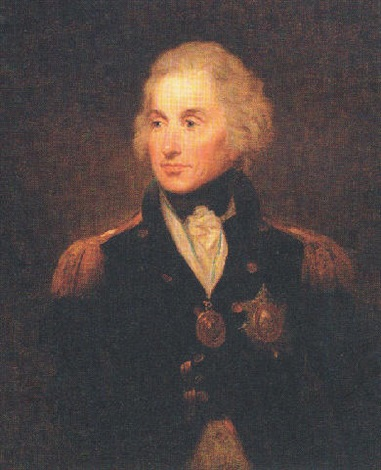 portrait of rear admiral horatio lord nelson in naval uniform by lemuel francis abbott