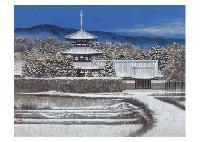 horinji in the snow by naoki kadoshima