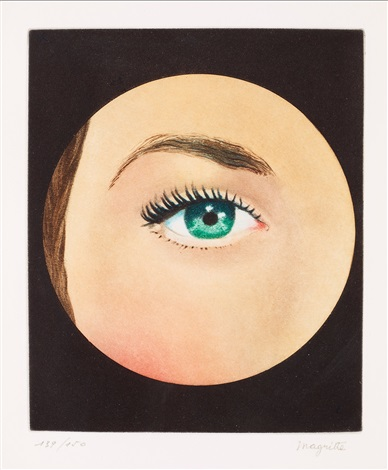 l'oeil (l'oeil vert/l'objet) by rené magritte