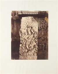 halebid. sculptural high-relief of indian god ventkatramana by richard banner oakeley