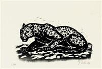 raubkatze (+ afrikanischer elefant; 2 works) by georg saatzer