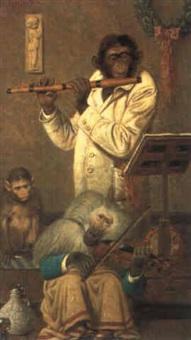 musizierende affen by emil reinicke