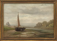 on the exe at topsham by william (of plymouth) williams