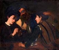 les joueurs de cartes by michelangelo merisi da caravaggio