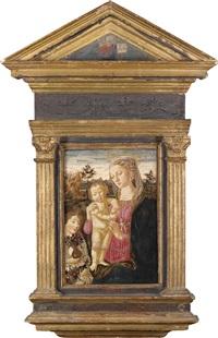 madonna mit kind und dem johannesknaben in einer landschaft by biago d'antonio da firenze