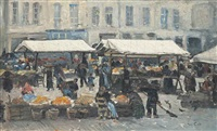 the bustling market by siebe johannes ten cate