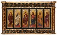 helgonbilder (6 works) by francesco di gentile da fabriano