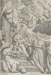 die mystische vermählung der heiligen katharina by agostino carracci