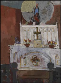 interior indian church by molly joan lamb bobak